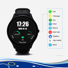 Newest Android 4.4 Round Smart Watch Heart Rate Monitor Dual Core 512 RAM 4GB ROM  with Wifi/Bluetooth/GPS for Android No.1.D5