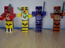 Hot 4pcs/set Model Minecraft Five Nights At Freddy's Juguetes 4 FNAF Foxy Chica Bonnie Freddy Action Figures Game Kid Toy Gifts(China (Mainland))
