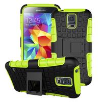 Samsung Galaxy S5 mini Coque Silicone & Plastic Mobile Phone Holder Stand Samsung S5 mini G800 Fundas