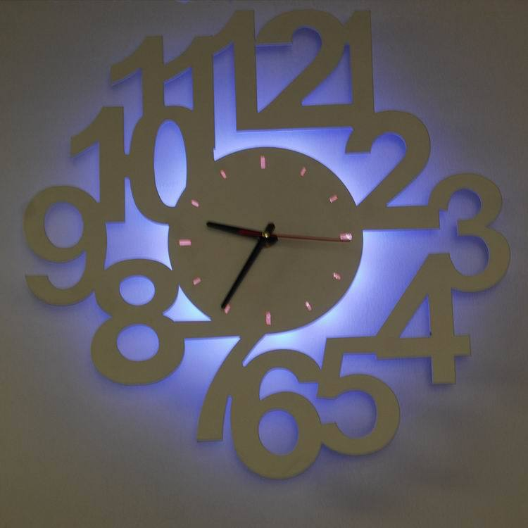 horloge murale digitale led pile maison design. Black Bedroom Furniture Sets. Home Design Ideas