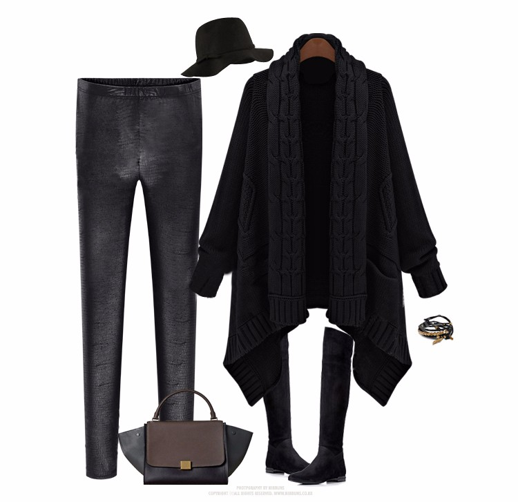European-style autumn&winter ladies cardigan sweater and long sections irregular sweater coat thick loose big yards for women