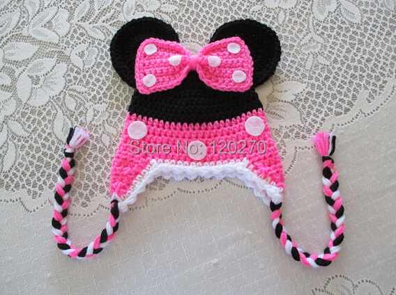 Free Crochet Pattern For Child s Minnie Mouse Hat : Aliexpress.com : Buy Free Shipping Crochet Pattern ...