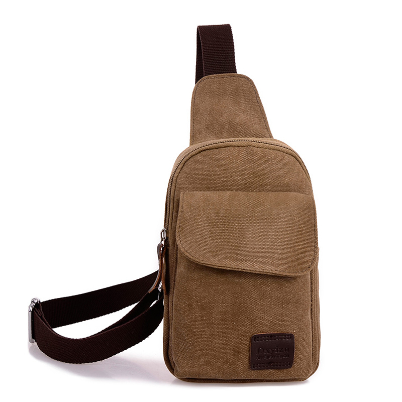 Hot 2015 new Casual men s chest pack sports canvas bags multifunctional outdoor small male messenger