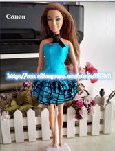 Fashion Doll Dress Handmade Party Clothes Fashion doll Dress For Barbie Doll,hot sell toys for girls gift doll accessories(China (Mainland))