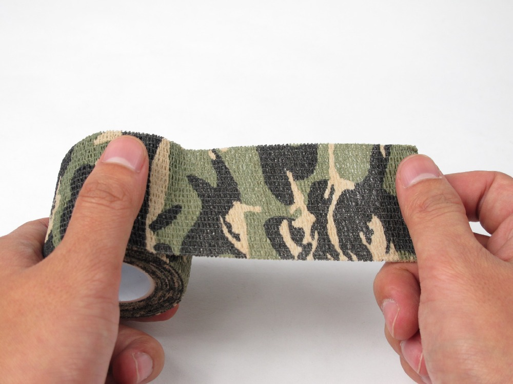 1 Roll Telescopic Camo Stretch Bandage Camping Hunting Camouflage Tape for Gun Cloths Camera Flashlight Bicycle