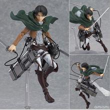 14cm anime attack on Titan legion Scouting shingeki no Kyojin Levi Figma 213 PVC action Figure Model Collection Toy Gift Eren
