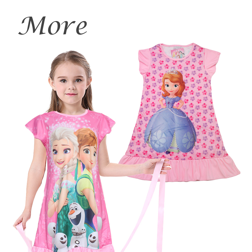 New 2015 summer princess dress Retail girl print dresses children casual kids dress POLYESTER kids clothes party CX(China (Mainland))