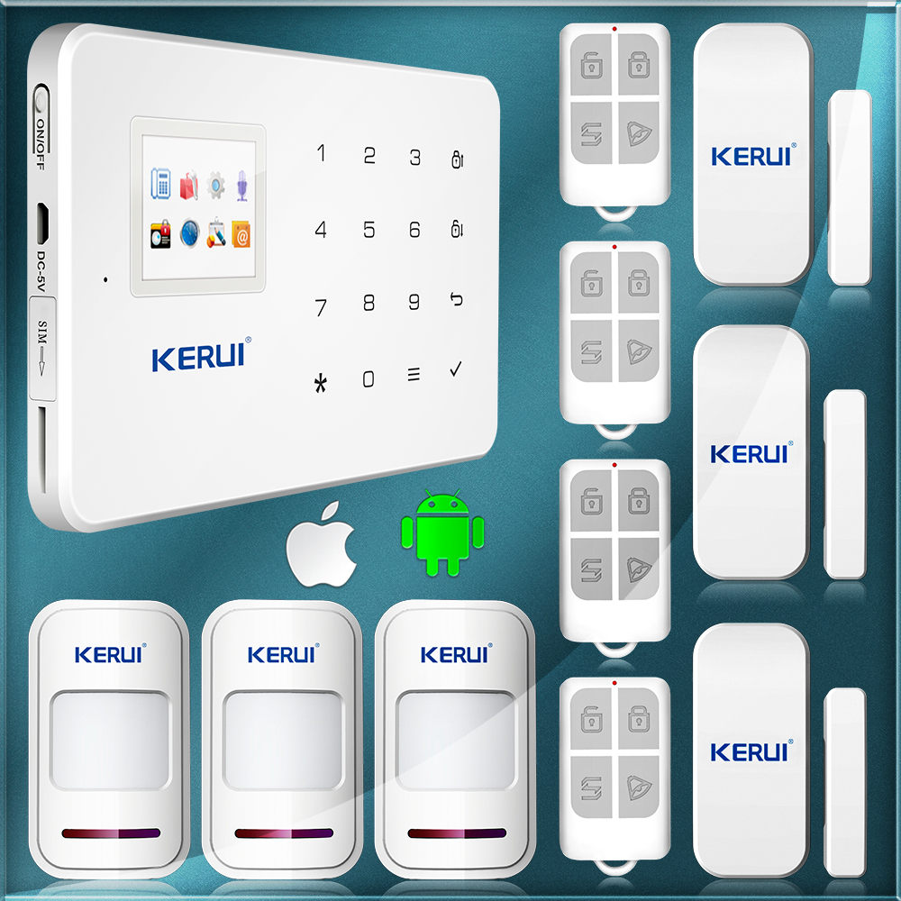 Wireless GSM Voice Home Security Burglar Android IOS Alarm System Auto Dialing Dialer SMS Call Remote Control Setting Brand