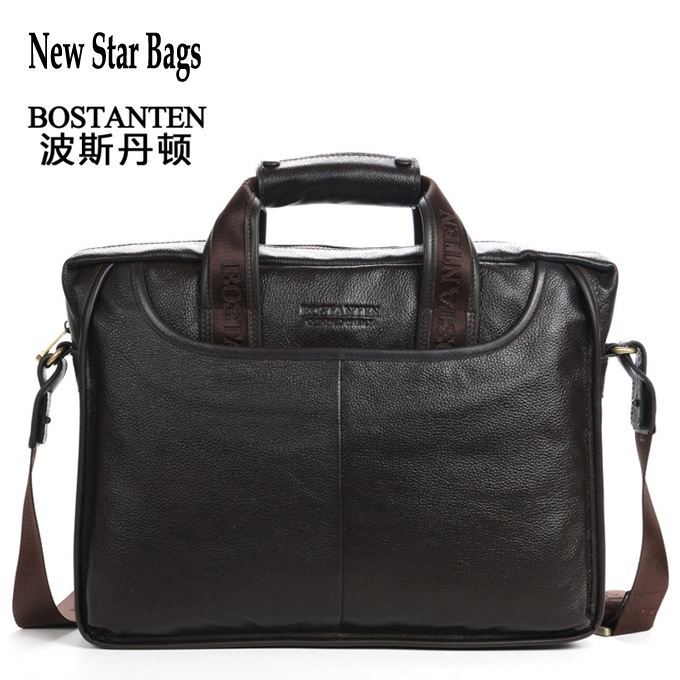 BOSTANTEN 100% Cowhide men's business briefcase Genuine leather man vintage shoulder computer bag / Luxury leather bag GB216(China (Mainland))
