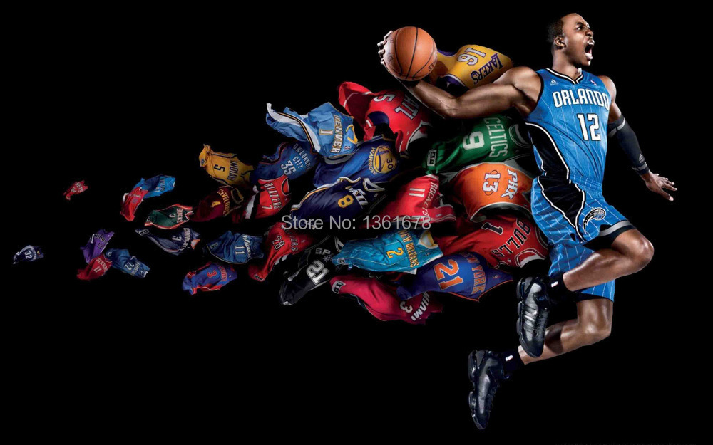 2014 Hot Sale Print The basketball star picture nice style custom poster silk cloth size 24x38 inches(China (Mainland))