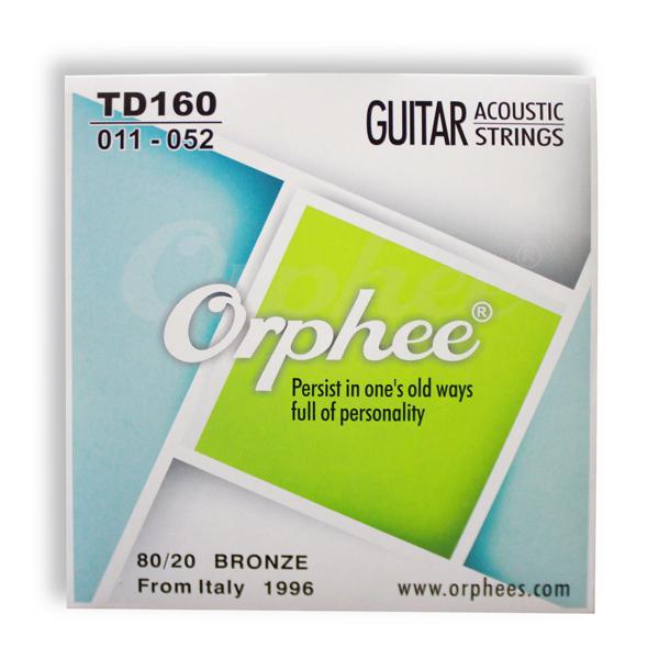 80/20 Phosphor copper Acoustic Guitar Strings 011 inch 6pcs/set Hexagonal alloy Orphee TD160(Hong Kong)