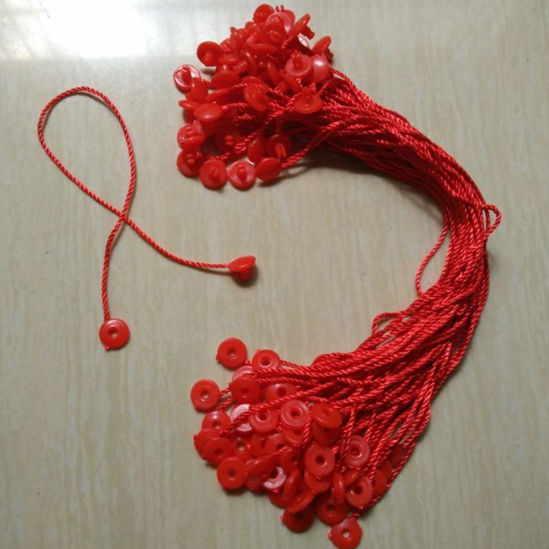 100 pcs/lot Paper Tag red round cords for clothing ropes Hang tag strings for t shirt(China (Mainland))
