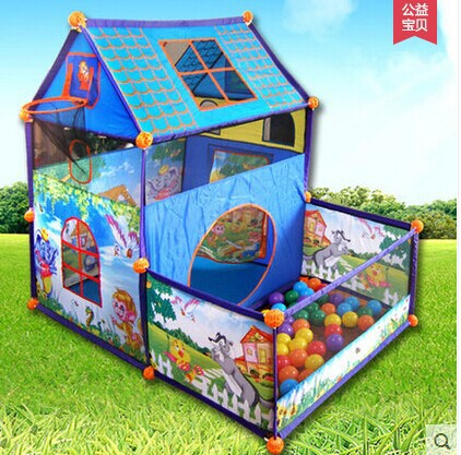 Free shipping kids tent Super game room toy home indoor house dunk children's play tent baby ball pool Outdoor Children's tent(China (Mainland))