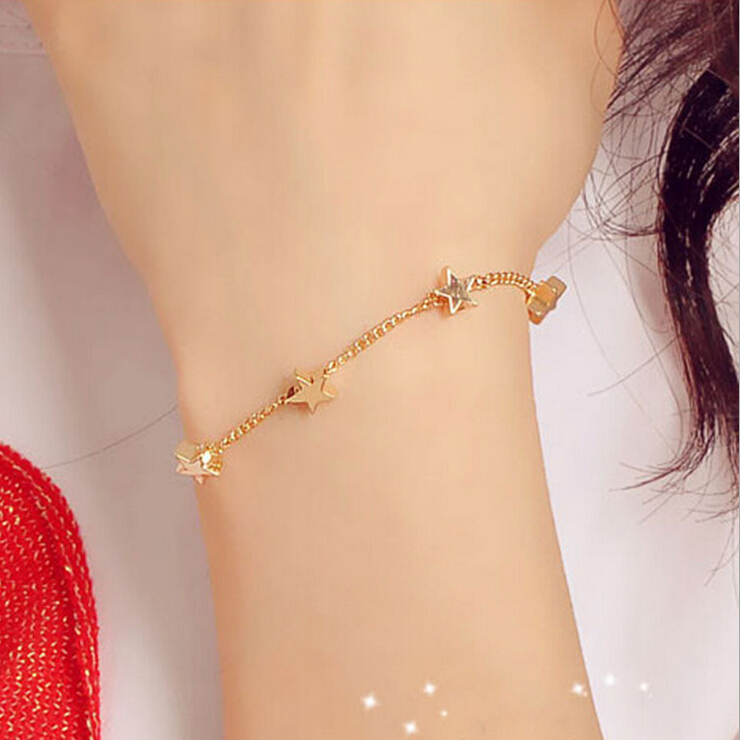 Wholesale New Lady Girls Bangle Simple Gold Filled Chic Heart Trendy ...