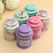 Hot 2016 New 1Pcs/Lot Wholesale Butterfly Knot And Line Drawing Style Kitchen Tea Sugar Coffee Storage Tin Box Portable 7*5.5cm(China (Mainland))