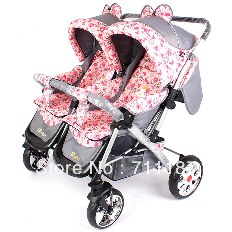 Aliexpress com buy chinese style double pram for lovely twins baby stroller carrier
