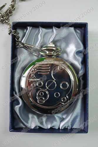 TV Play Who is Doctor Dr Who David Tennant Masters Fob Watch Pocket Watch+Chain 2pcs Set Cosplay Prop