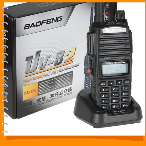 Baofeng UV-82 Dual Band VHF 136 - 174 / UHF 400 - 520 MHz FM Transceiver Walkie Talkie Two 2 Way Radio with Battery Earphone(China (Mainland))