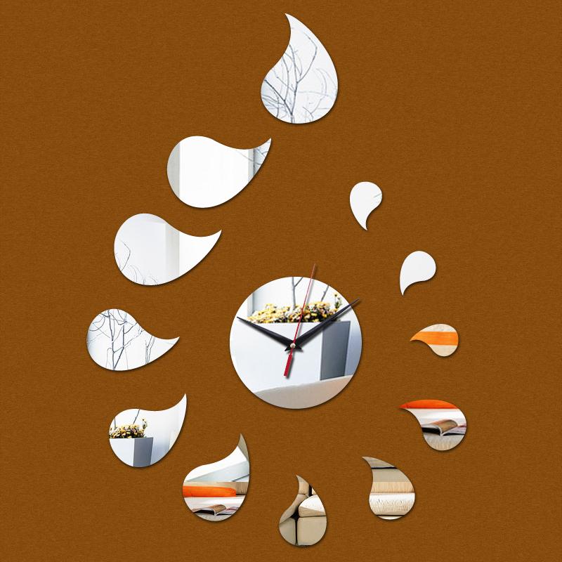 2015 new hot venda casa decoração espelho acrílico relógio de parede relógio de quartzo relógios moderno cofre digital grande adesivo frete grátis