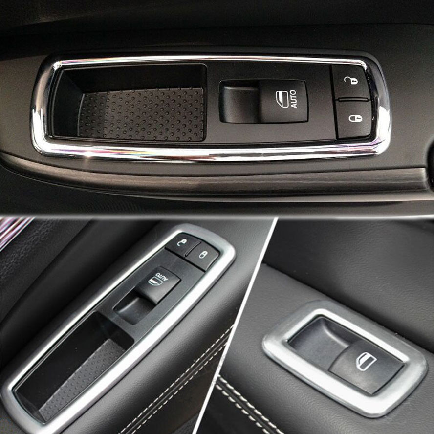 4pcs Matte ABS Window Switch Button Cover Trim Sticker Fit For 2011-2015 Jeep Grand Cherokee(China (Mainland))