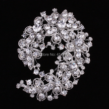 12pcs/lot Crystal Brooch Wedding Jewelry