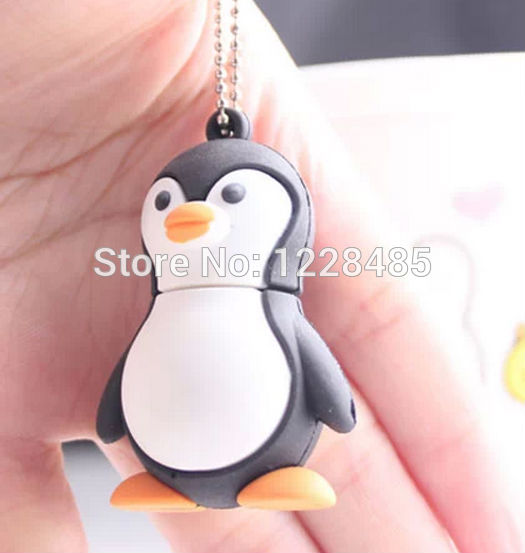 Bestselling cute penguin key chain model usb flash drive 8GB 16GB usb flash memory stick pen drive USB creativoS226(China (Mainland))