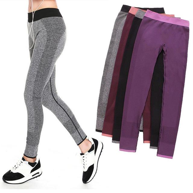 S-XL 4 Цвета Женщины Спортивные Леггинсы Для Юга Бег Бодибилдинг Фитнес Одежды Мода Эластичный Jegging Леггинсы
