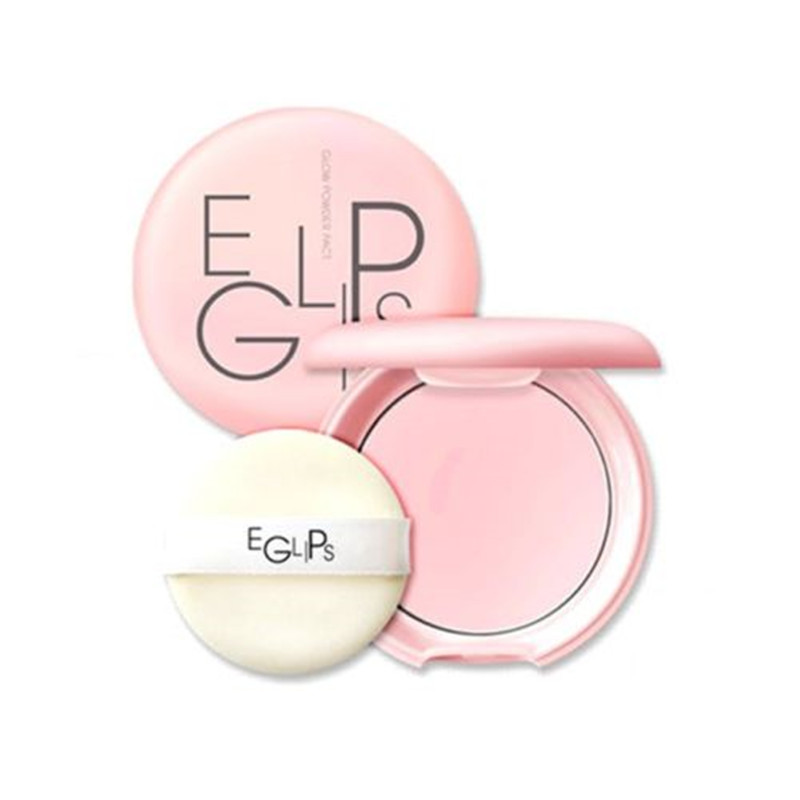EGLIPS Glow Powder Pact 8g Loose Powder Makeup Foundation Primer Finishing Powder Waterproof Cosmetic For Face Beauty Make up(China (Mainland))