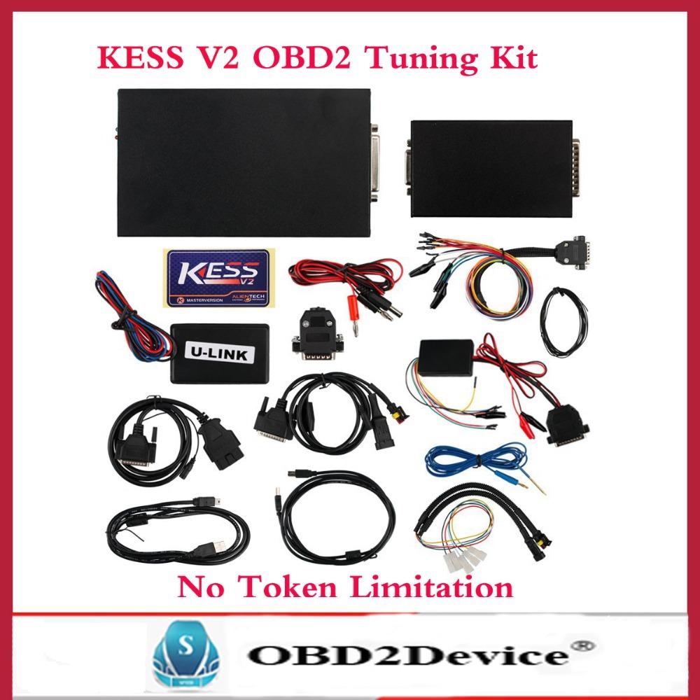 2016 New ECU Chip Tuning Tool KESS V2 2.15 OBD2 Manager Tuning Kit No Token limited Kess V2 Master with multi-languages(China (Mainland))