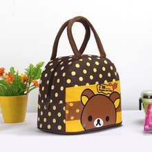 2016 New 17 colors Cute Cartoon Student Lunch Bag Lunch Boxs Bag Handbag Picnic For Women