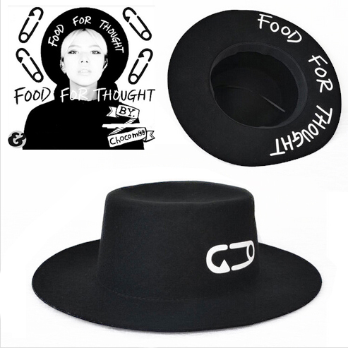 New Paperclip Brand Woolen Soft Vintage Wide Brim Wool Felt Bowler Fedora Hat Floppy Cloche Sun Hat For Women chapeu feminino(China (Mainland))