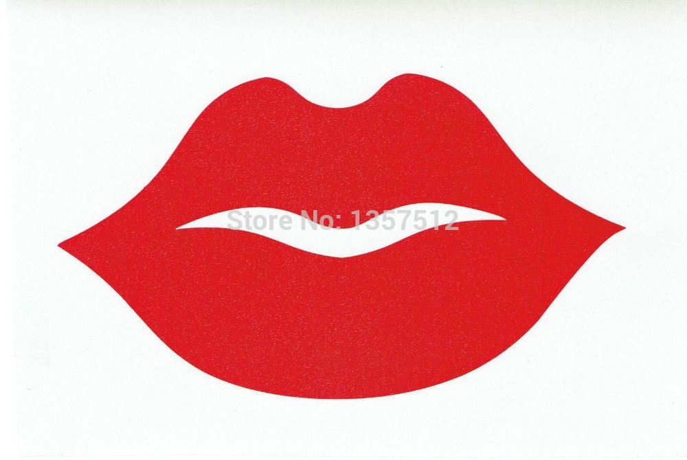 Big Thick Red Lips Car Sticker For Truck Window Bumper Auto SUV Door Kayak Vinyl Decal 13 Colors(China (Mainland))