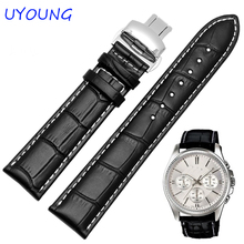 Buy 18/19/20/21/22/24mm Hot Sale Genuine Leather Watchband Black Brown Watch accessories Tissot Strap Bracelet for $9.31 in AliExpress store