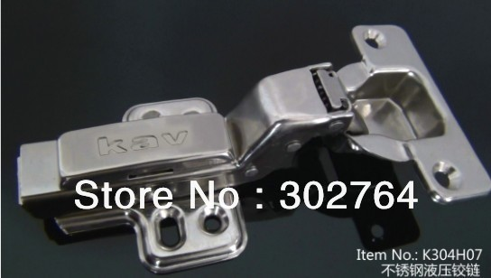 product 40PCS concealed hydraulic furniture stainless steel 304 cabinet hingeclip on  half overlay hardware