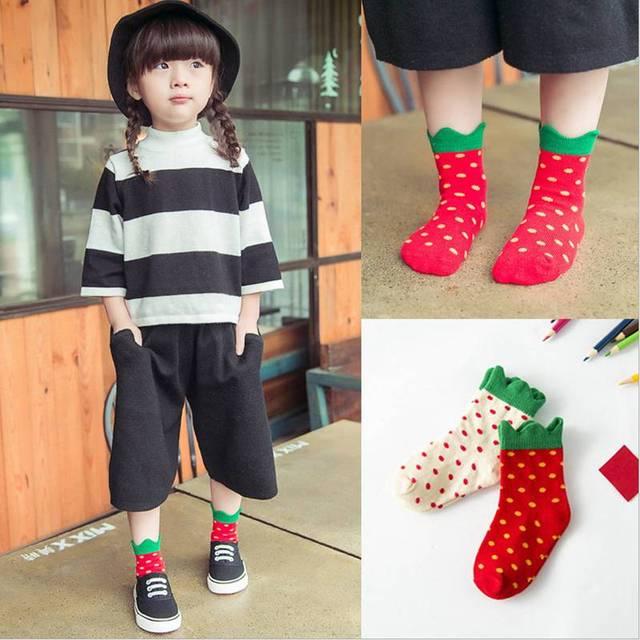 Носки детские Клубника хлопок высокое качество