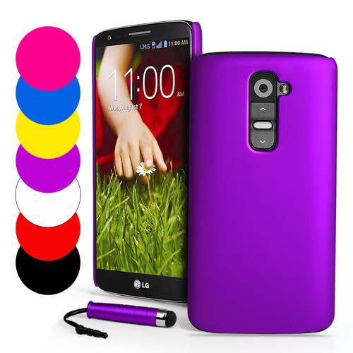 G2 Rubberized Plastic Hard Case cover for LG Optimus G2 D802 Back Skin Cover+Stylus Touch pen protective mobile phone case(Hong Kong)
