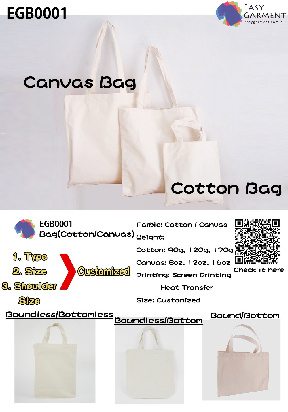 Tote Bag Customized / Canvas or Cotton Bag Customized(China (Mainland))