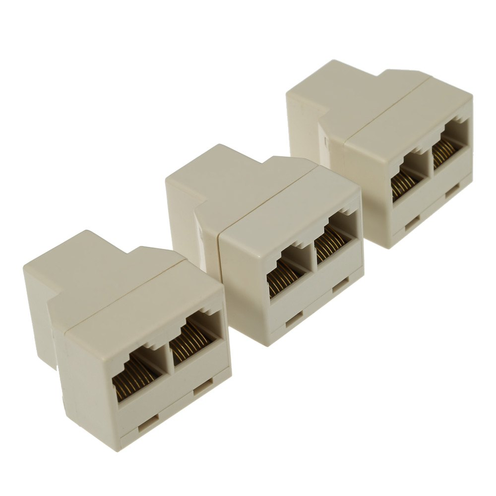 Cheapest High Quality 3pcs / Pack RJ45 CAT5 Ethernet Cable LAN Port 1 to 2 Socket Splitter Connector(China (Mainland))