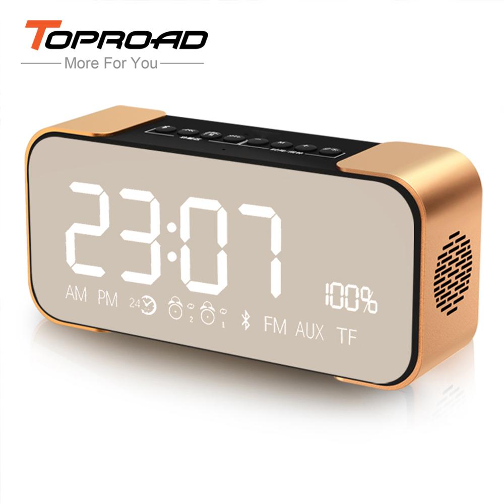 Bluetooth Speaker Wireless Stereo Aluminum Parlante Portable FM Radio Altavoz Support Time clock Alarm clock TF card Line in(China (Mainland))