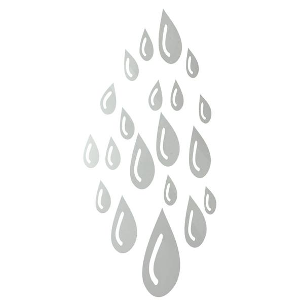 Beautiful Design DIY 3D Mirror Water Drop Raindrop Wall Stickers Home Decor Art Decal Acrylic Lowest Price Stylish Fashion(China (Mainland))