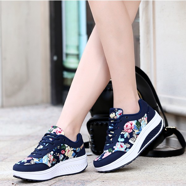 2016 leather women casual shoes mesh increased thick soled ladies trainers casual shoes women 207