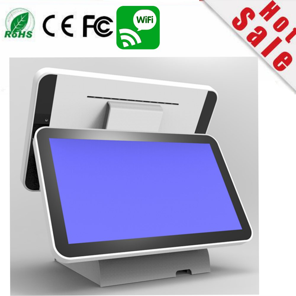 new stock I5 15.6 inch double screen capacitive touch Screen one windows pos terminal Co.,Ltd)