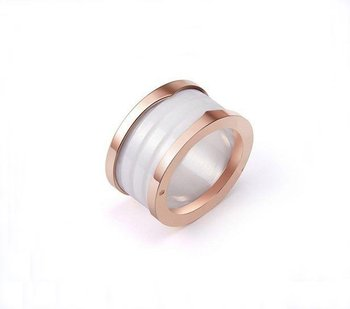 Fascinating Elegance Designer Pure White Ceramic Rings,Matching Beautiful 18K Pink Gold,Vintage Wedding Bands For Pretty Womens