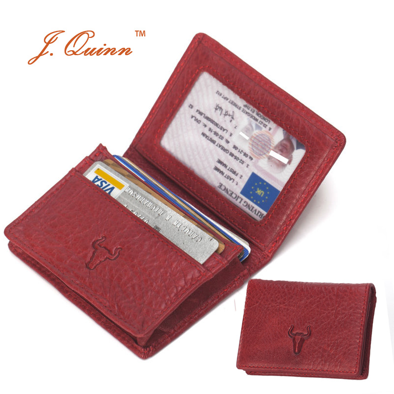 Jquinn ladies luxury red business card id holders real for Womens business card case