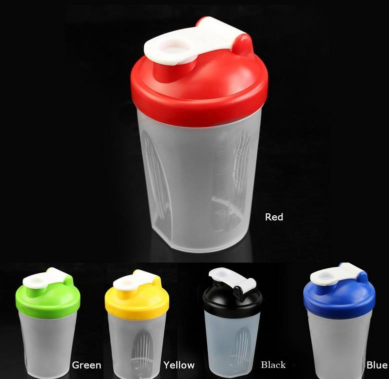 Newest 5 Colors Smart Shake Gym Protein Shaker Mixer Cup With Stainless Whisk Ball(China (Mainland))