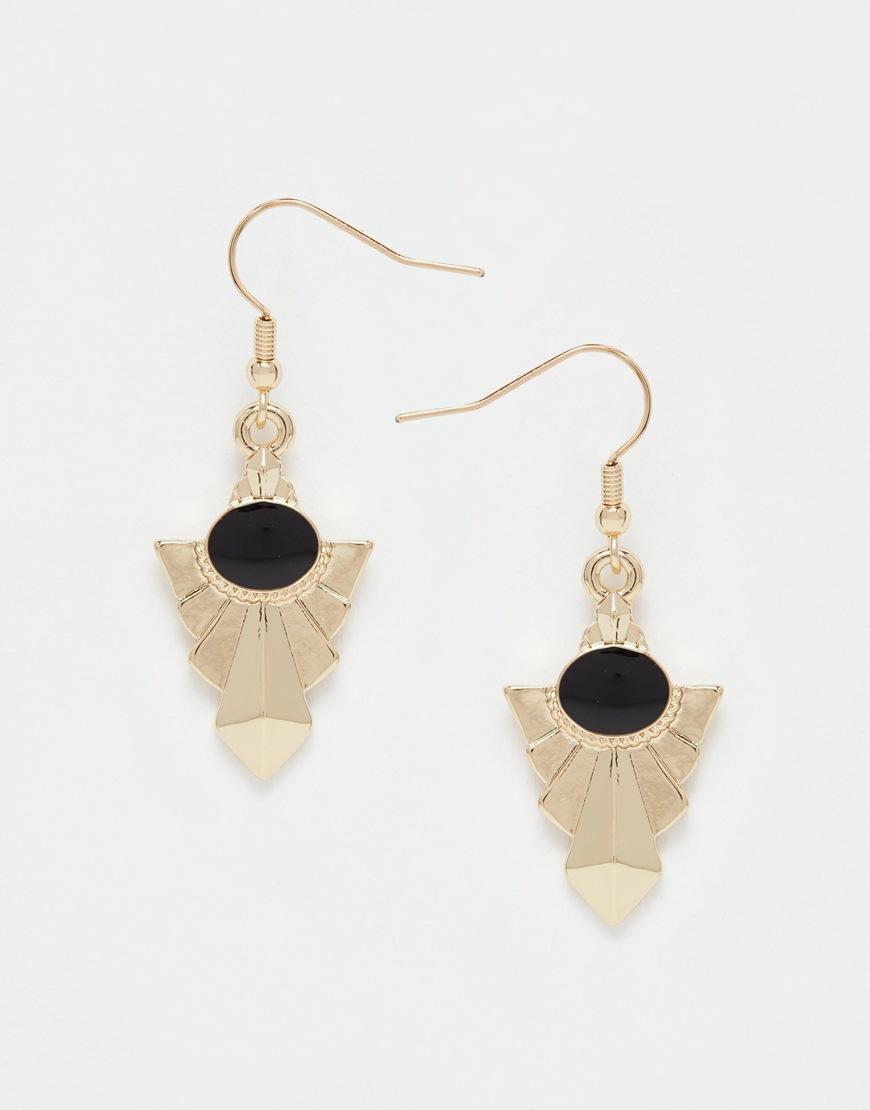 Black Personality trend stud earring fashion brand women jewelry stud earrings(China (Mainland))