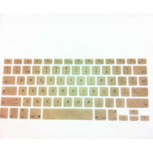 10 X Metallic Gold Spanish US Silicone Keyboard Cover Skin Protector Film Protector for Apple MacBook Pro air Retina 13 15 17