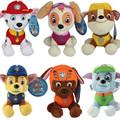 20cm 12cm Popular Patrol Dog Plush Catroon Dog Toys Puppy Dog Doll America Anime Action Figure