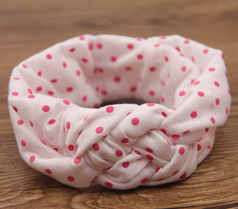 fashion cute baby dot knot turban headband cotton baby twisted head wraps girl cute hairband head band hair accessories(China (Mainland))