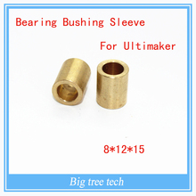 Free shipping 4pcs bearing bushing 3d printer accessory Ultimaker copper bush sintered 8mm * 12mm * 15mm diy for slide block